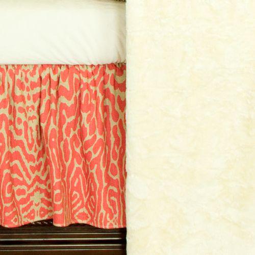 N. Selby by Cotton Tale 3-pc. Raspberry Dot Crib Bedding Set