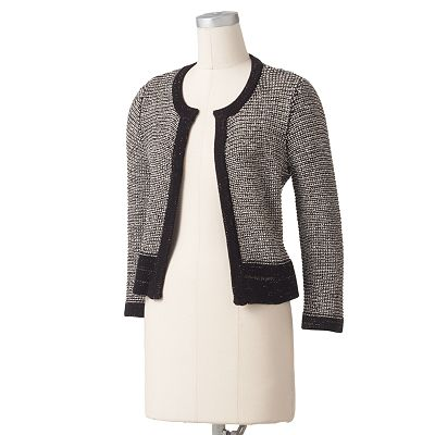 Apt. 9 Marled Boucle Sweater Jacket