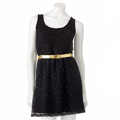 Candie's Openwork Sequin Dress - Juniors