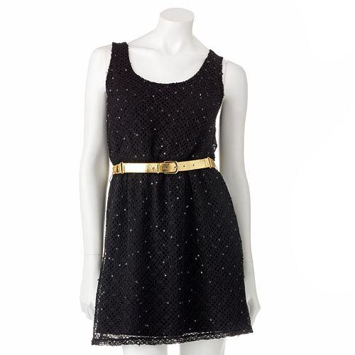 Candie'S Openwork Sequin Dress $ 28.99