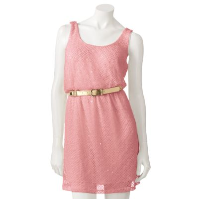 Candie's Openwork Sequin Dress