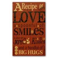 New View A Recipe For Love Wall Decor