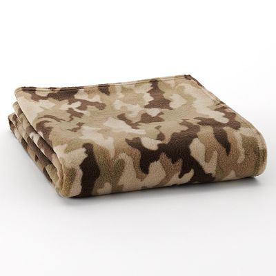 Home Classics Camouflage Fleece Throw