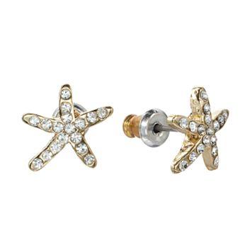 LC Lauren Conrad Starfish Stud Earrings