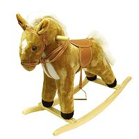 Happy Trails Plush Palomino Rocking Horse