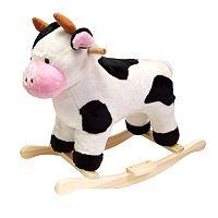 Happy Trails Plush Rocking Cow
