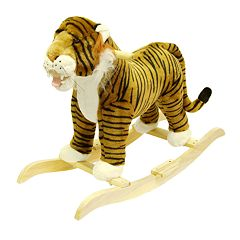 Happy Trails Plush Rocking Tiger