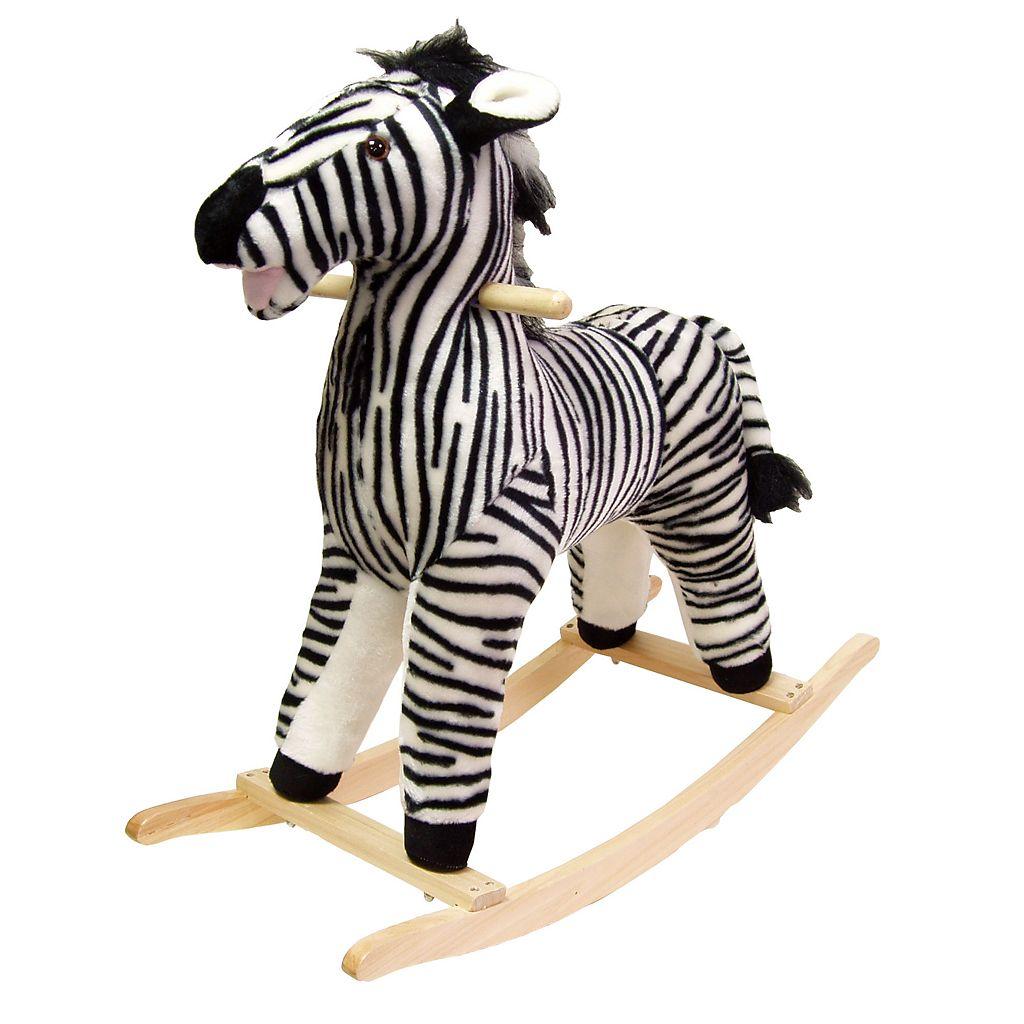 Happy Trails Plush Rocking Zebra