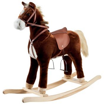 Happy Trails Brown Plush Rocking Horse