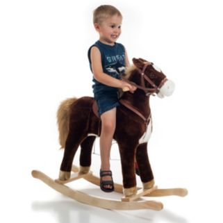 Happy Trails Brown Plush Rocking Horse