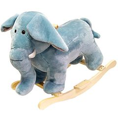Happy Trails Plush Rocking Elephant
