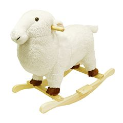 Happy Trails Plush Rocking Lamb