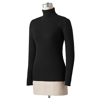 SONOMA life + style Ribbed Turtleneck Sweater
