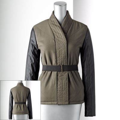 Simply Vera Vera Wang Mixed-Media Jacket