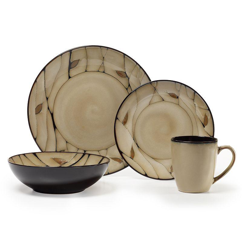 Pfaltzgraff Briar 16-pc. Dinnerware Set, Beig/Green (Beig/Khaki)