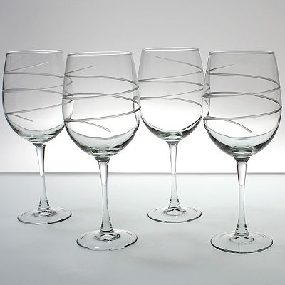 Rolf Glass Spiral 4-pc. All-Purpose Wine Glass Set
