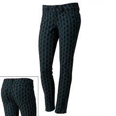 Candie's® Houndstooth Skinny Jeans - Juniors