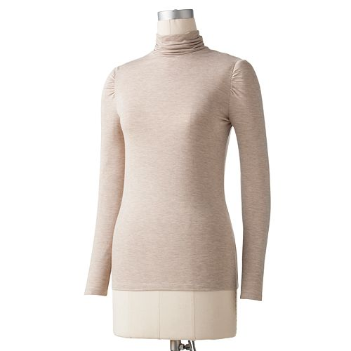 Apt. 9® Shirred Turtleneck