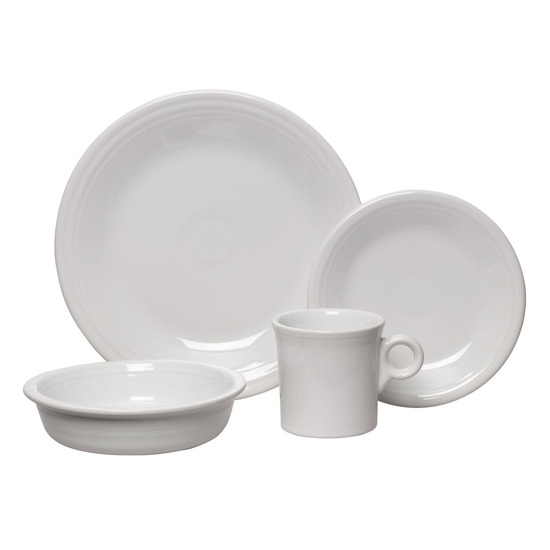 Fiesta 4-pc. Place Setting  sc 1 st  Kohl\u0027s & White Casual Dinnerware Sets Dinnerware \u0026 Serveware Kitchen ...