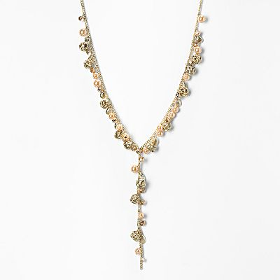 Simply Vera Vera Wang Gold Tone Simulated Pearl Long Y Necklace