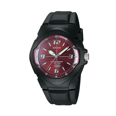 Casio Black Resin Sport Watch - MW600F-4AV - Men