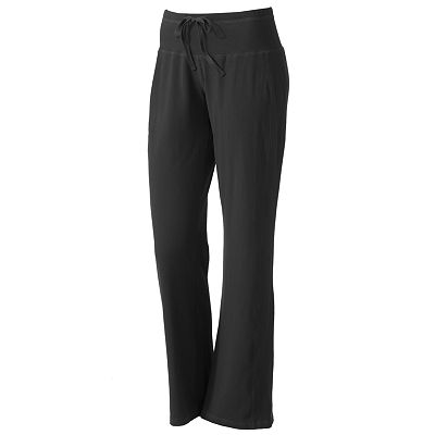 Tek Gear Fit and Flare Wide-Waist Performance Yoga Pants