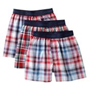 Hanes 3-pk. Plaid Boxer Briefs - Boys 2-20
