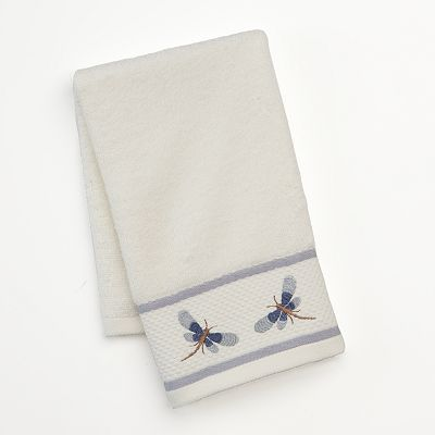 Croft and Barrow Dragonfly Valley Embroidered Hand Towel