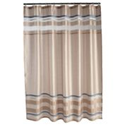 Croft and Barrow Dragonfly Valley Striped Shower Curtain