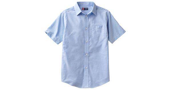 Boys 4 20 chaps school uniform solid oxford button down shirt for Chaps button down shirts