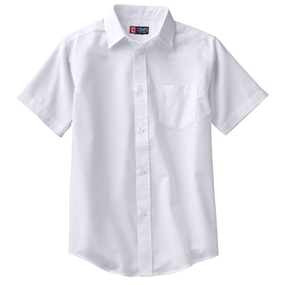 4-20 Chaps School Uniform Solid Oxford Button-Down Shirt