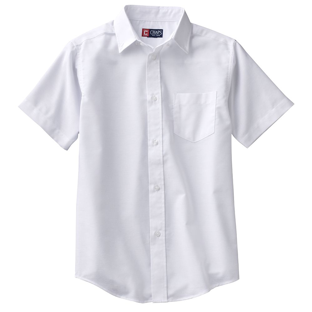 4-20 Chaps School Uniform Solid Oxford Button-Down Shirt