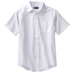 Boys 4-20 Chaps School Uniform Solid Oxford Button-Down Shirt