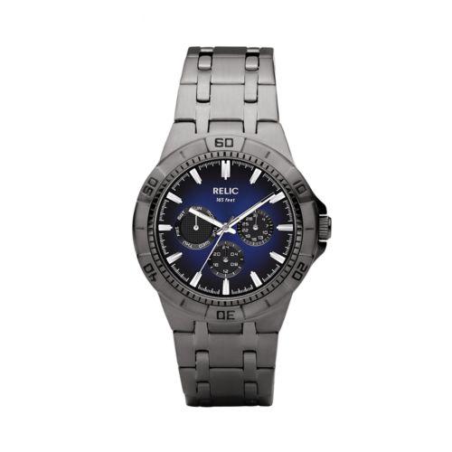 Relic Gunmetal Stainless Steel Watch - ZR15533 - Men