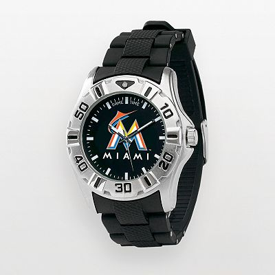 Game Time MVP Miami Marlins Silver Tone Watch - MLB-MVP-MIA