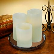 3-pc. Vanilla Flameless LED Pillar Candle Set