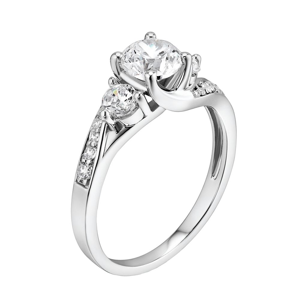 DiamonLuxe Sterling Silver 1.65-ct. T.W. Simulated Diamond Swirl Ring