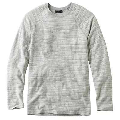 Marc Anthony Textured-Striped Raglan Tee