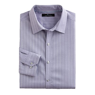 Marc Anthony Slim-Fit Twisted Striped Casual Button-Down Shirt