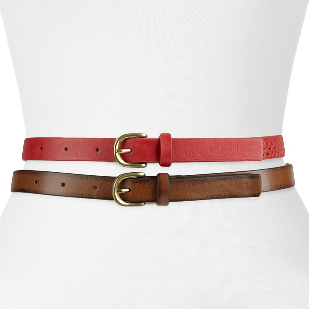 SONOMA Goods for Life™ Perforated & Smooth Belt Set