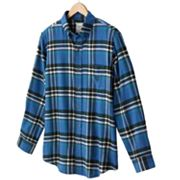 Chaps Plaid Flannel Casual Button-Down Shirt - Big and Tall