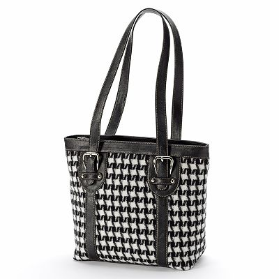 Croft and Barrow Essentials Checked Tote