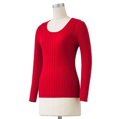 212 Collection Solid Ribbed Sweater