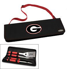 Picnic Time Georgia Bulldogs Metro 4 pc Barbecue Tote Set