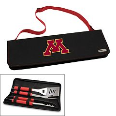 Picnic Time Minnesota Golden Gophers Metro 4 pc Barbecue Tote Set