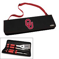 Picnic Time Oklahoma Sooners Metro 4 pc Barbecue Tote Set