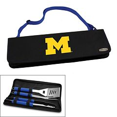 Picnic Time Michigan Wolverines Metro 4 pc Barbecue Tote Set