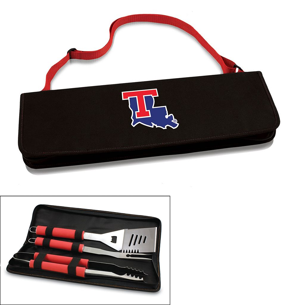 Picnic Time Louisiana Tech Bulldogs Metro 4-pc. Barbecue Tote Set