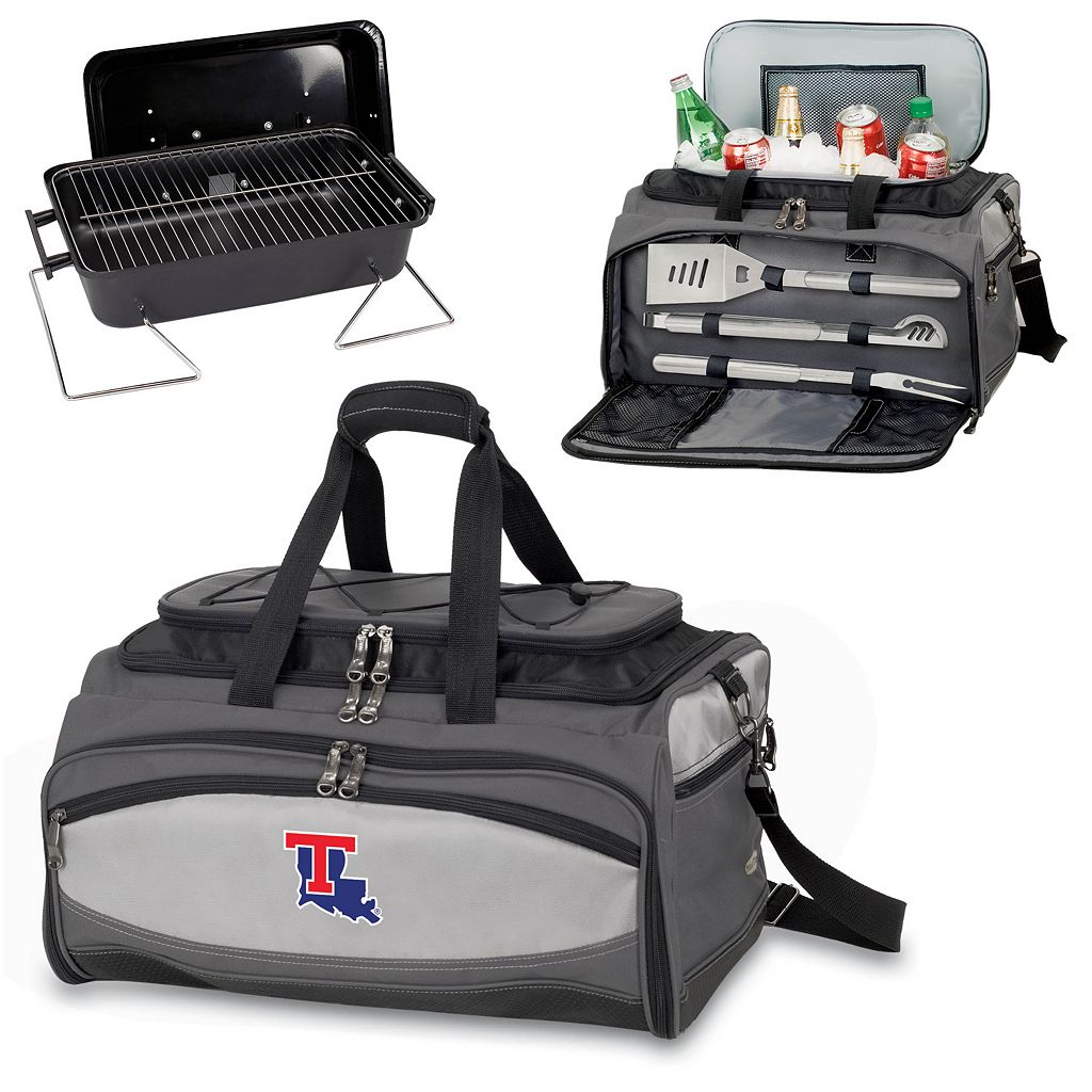 Picnic Time Buccaneer Louisiana Tech Bulldogs Tailgating Cooler and Grill
