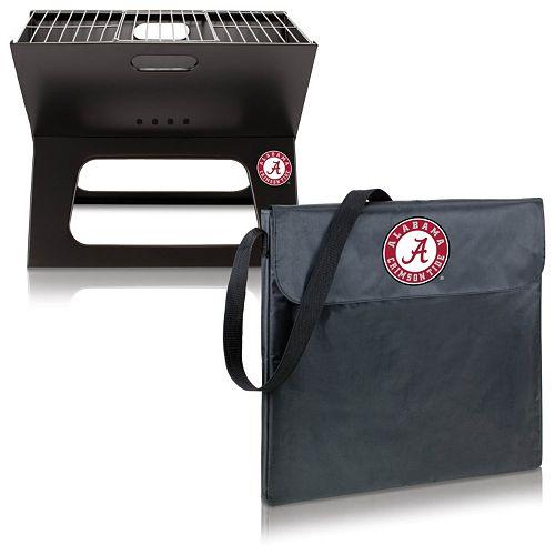 Picnic Time Alabama Crimson Tide Portable X-Grill